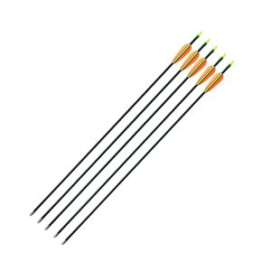 "Enfiled Sports Limited - 30"" Fibreglass Arrows - Black with Lime Knocks - Pack of 5"