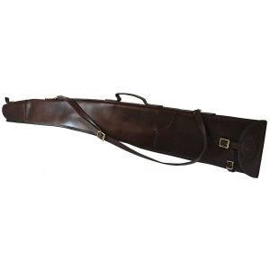 "Buckingham Collection 51"" Leather Gun Slip - Brown"