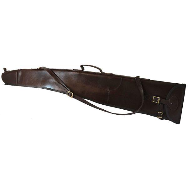 "Buckingham Collection 51"" Leather Gun Slip - Brown"