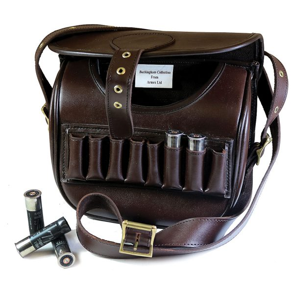 Buckingham Collection Leather Cartridge Bag with Pouches