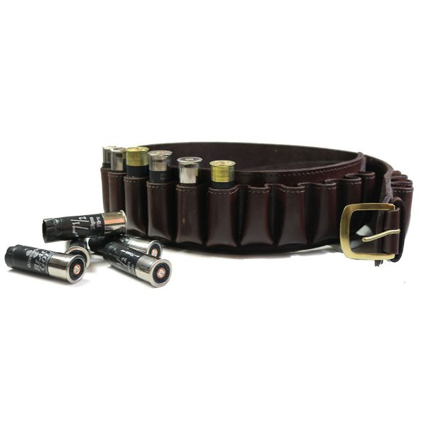 Buckingham Collection 12 Gauge Leather Cartridge Belt