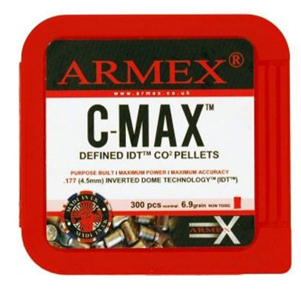 Enfield Sports Limited - Armex CMAX CO2 Pellets - 6.9g .177 - Pack of 300