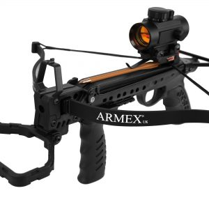 Tron 80lbs Pull/Cocking Pistol Crossbow - Black