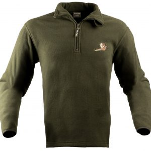 Pheasant Motif Fleece Pullover.