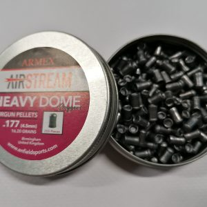 Armex Heavy Dome 4.5mm .177 Lead Pellets 16.20 grains Qty 250 Purple Tin