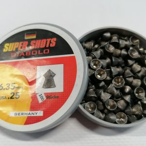 Super Shots .25 6.35mm Lead Pellets