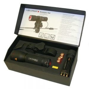 LED Lenser P7 LED Torch with Mounting Kit - Gun Set