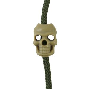paracord Skull Cord Stoppers Coyote