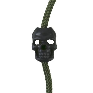 paracord Skull Cord Stoppers - black