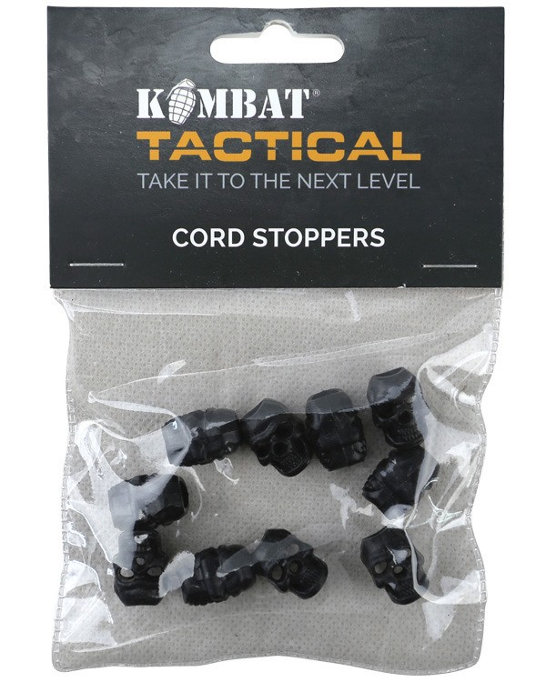 paracord Skull Cord Stoppers - black2