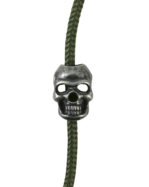 paracord Skull Cord Stoppers - silver