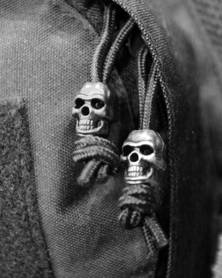 paracord Skull Cord Stoppers - silver2