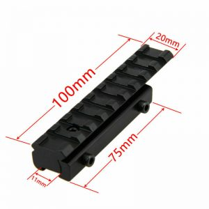 enfield_9-11mm Dovetail to 20mm Weaver Picatinny Rail Scope Mount Adapter Converter