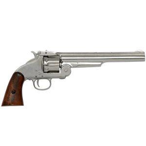 1869 Smith & Wesson 6 Shot Revolver In Nickel Finish